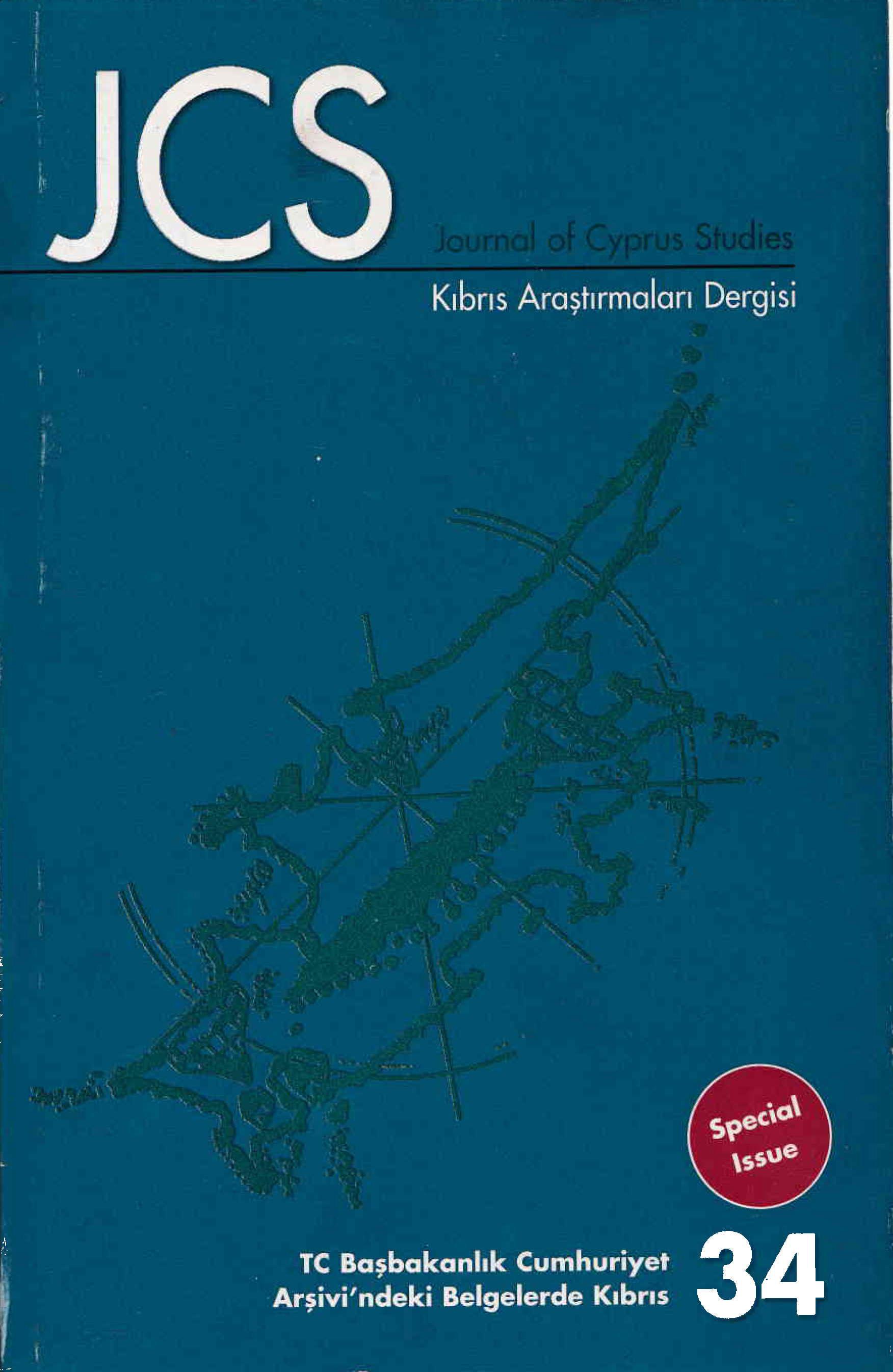 View Vol. 14 No. 34 (2008): Journal of Cyprus Studies