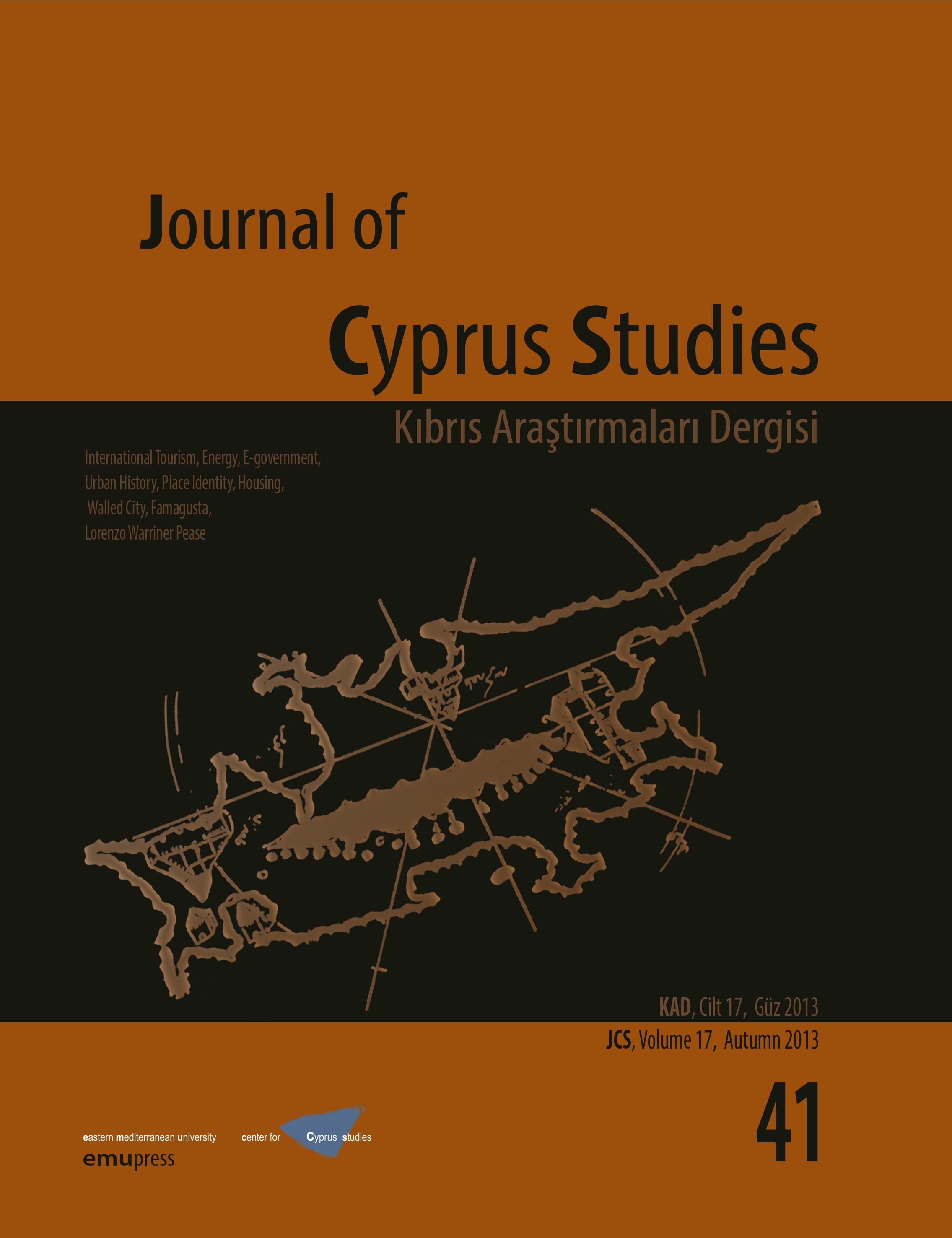 View Vol. 17 No. 41 (2013): Journal of Cyprus Studies
