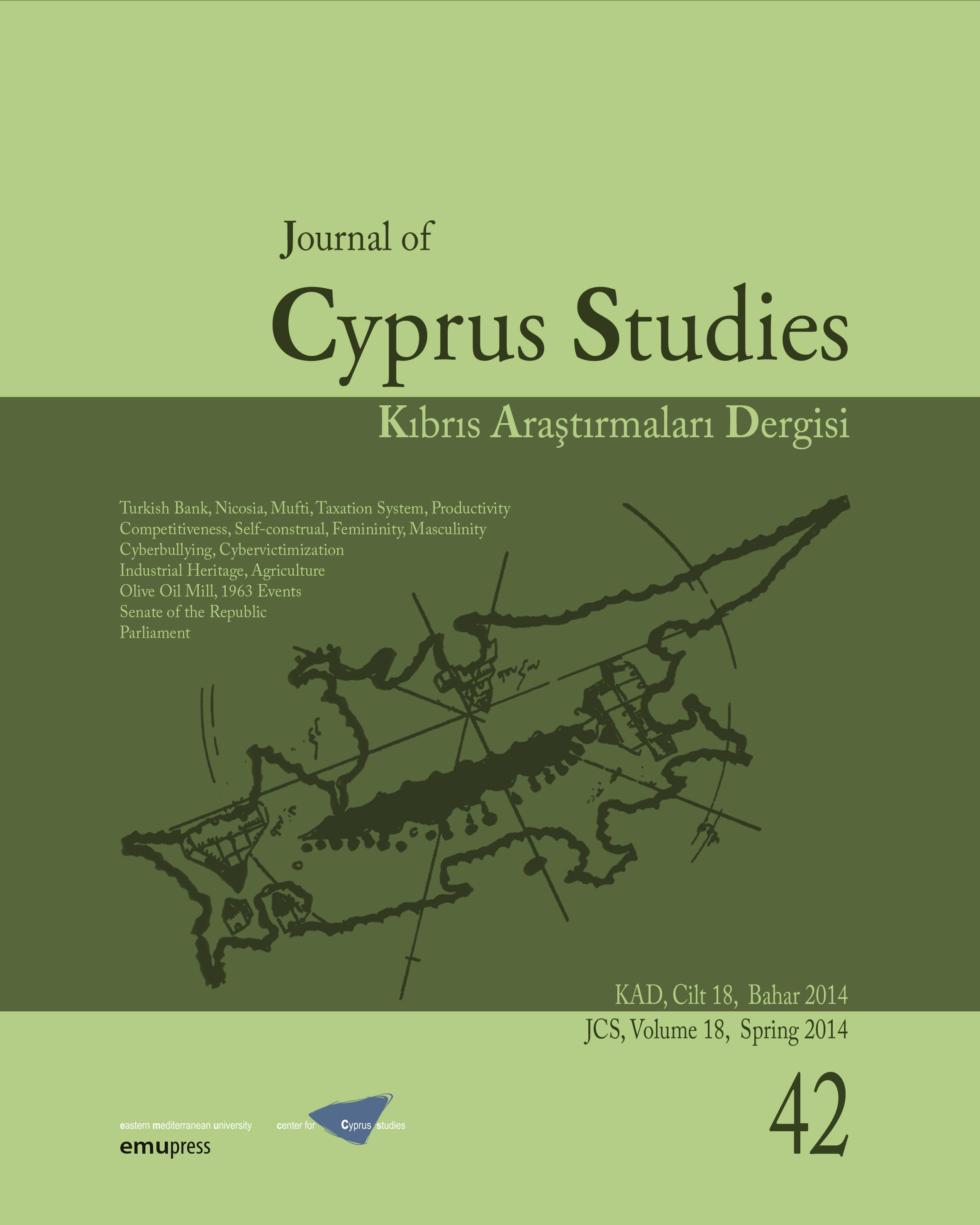View Vol. 18 No. 42 (2014): Journal of Cyprus Studies