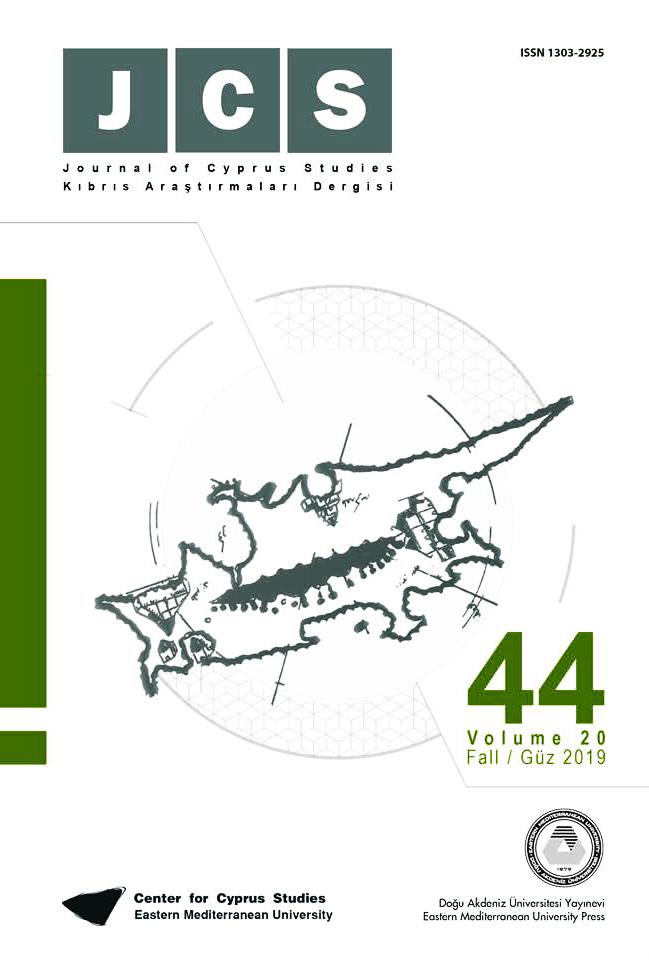 View Vol. 20 No. 44 (2019): Journal of Cyprus Studies