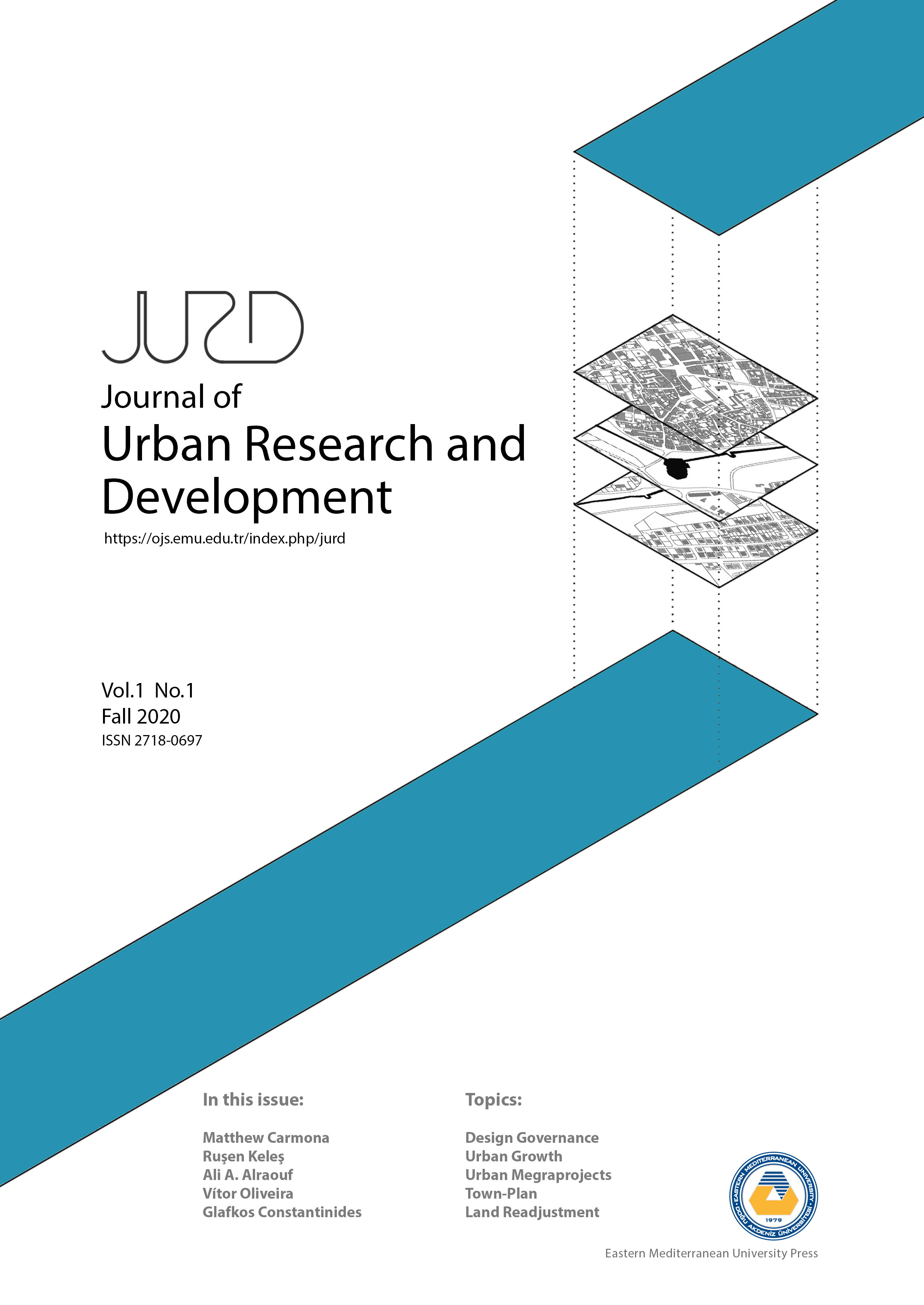 View Vol. 1 No. 01 (2020): Journal of Urban Research and Development